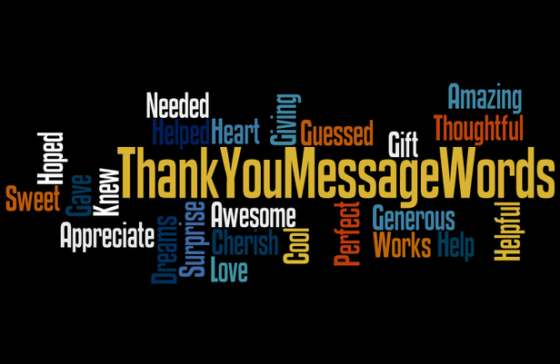 Thank You Message Words