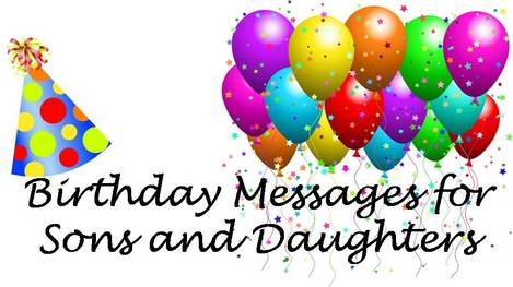 Fantastic Birthday Messages To Son Or Daughter Wishes Messages Sayings Personalised Birthday Cards Veneteletsinfo