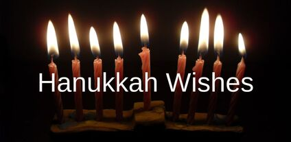 Hanukkah Wishes for a Card