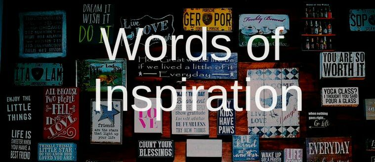 Wall of Inspirational Sayings